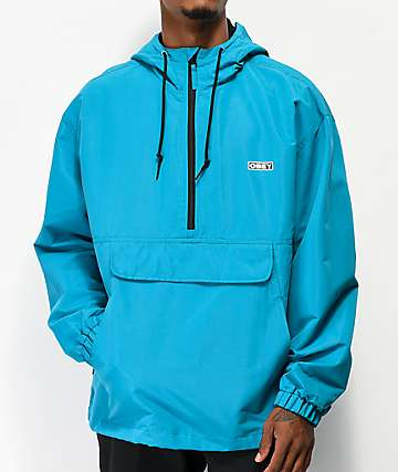 Obey Daybreak Teal Anorak Jacket