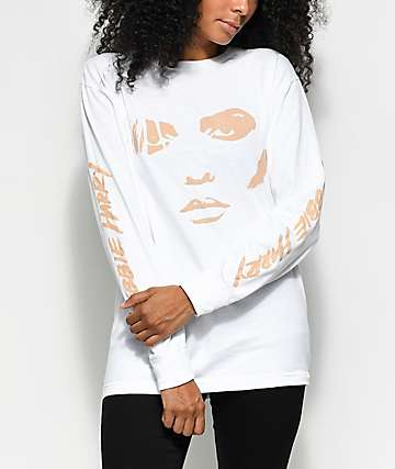 Obey Debbie Harry Visage camiseta blanca de manga larga