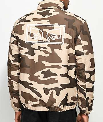 Obey Debraser Camo Puffy Jacket