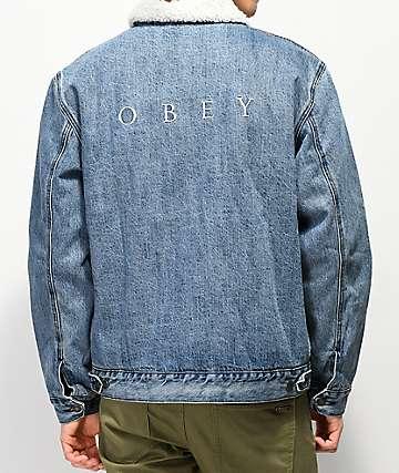 Obey Division chaqueta de mezclilla