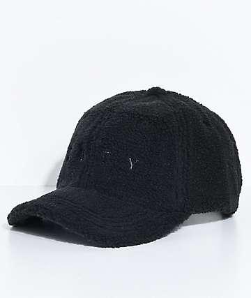 Obey Dolores Black Sherpa Strapback Hat