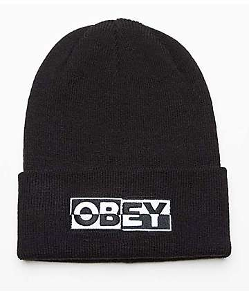 Obey Downbeat Black Beanie