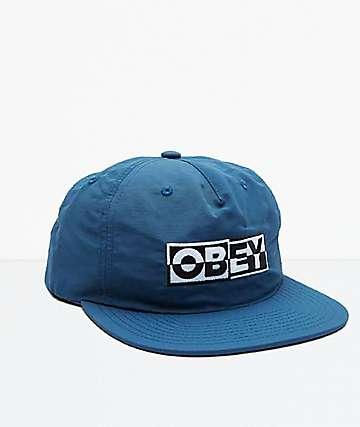 Obey Downbeat Pine Snapback Hat