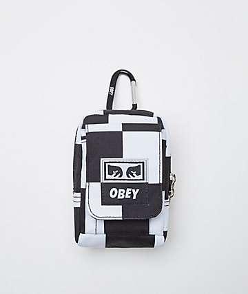Obey Drop Out Black & White Utility Bag