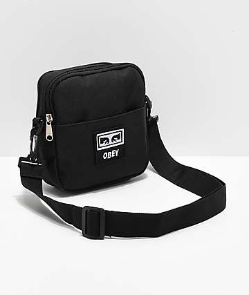 Obey Drop Out Black Crossbody Bag