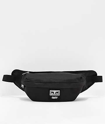 Obey Drop Out Black Fanny Pack