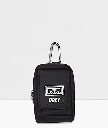 Obey Drop Out Black Mini Utility Bag