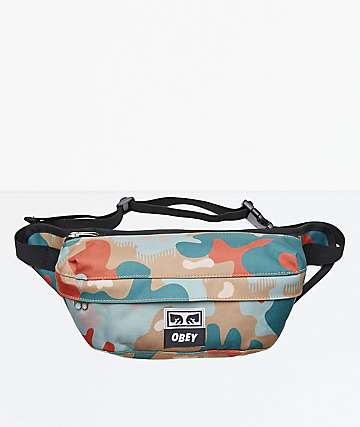 Obey Drop Out Drip Camo Fanny Pack