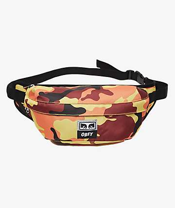 Obey Drop Out Orange Camo Sling Pack