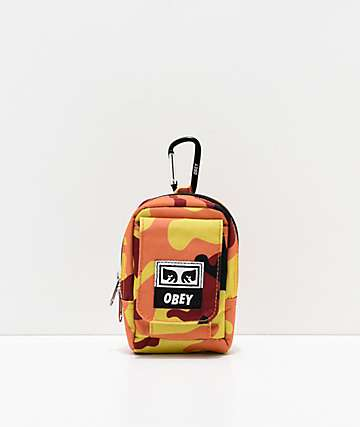 Obey Drop Out Orange Camo Utility Bag