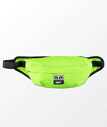 Obey Drop Out Safety Green Cross Body Pack