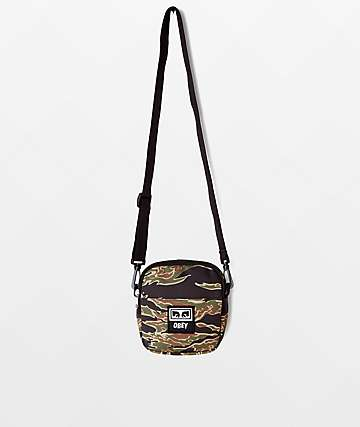 Obey Drop Out Traveler Tiger Camo Utility Bag