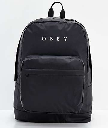 Obey Dropout Black Backpack