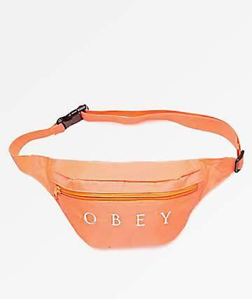 Obey Dropout Coral Fanny Pack