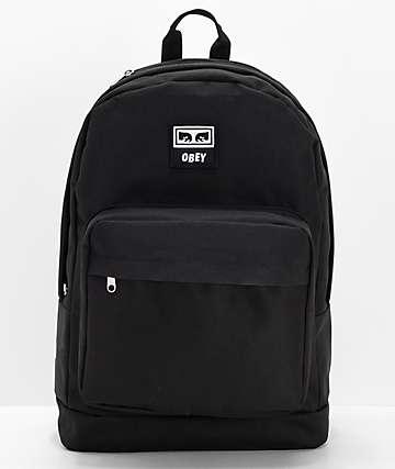 Obey Dropout Juvee Black Backpack