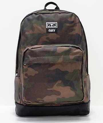 Obey Dropout Juvee Field mochila de camuflaje