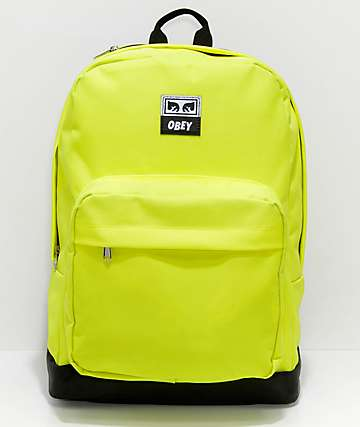 Obey Dropout Juvee Safety Green Backpack