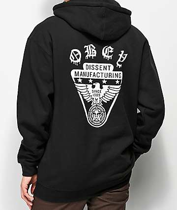 Obey Eagle Shield Black Hoodie