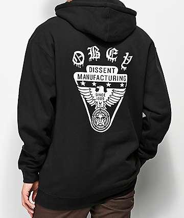 Obey Eagle Shield sudadera negra con capucha