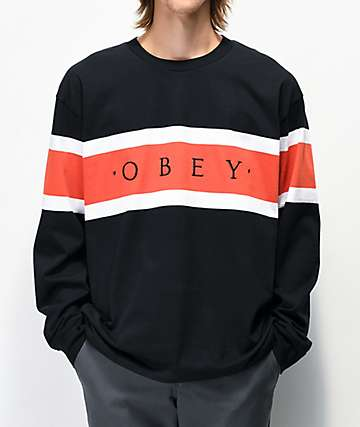 Obey Embrace Classic Black Long Sleeve T-Shirt