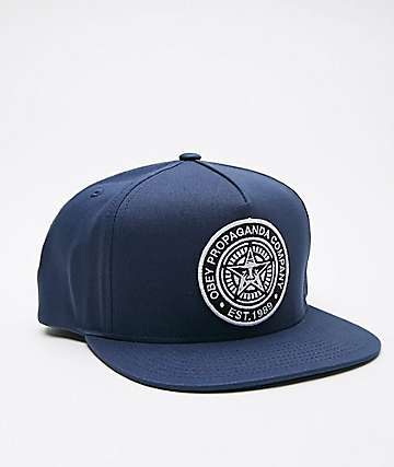 Obey Established 89 Navy Snapback Hat