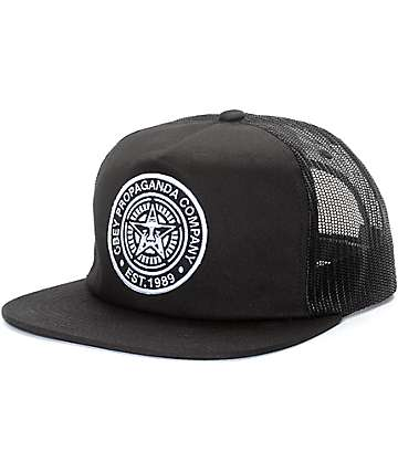 Obey Established 89 gorra trucker en negro
