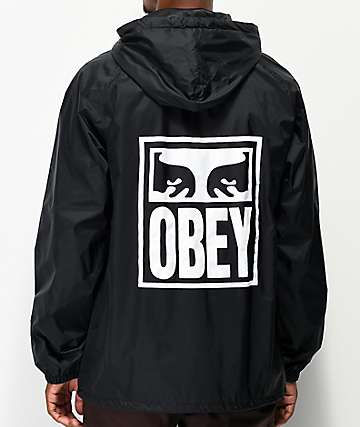 Obey Eyes Icon Black Coaches Jacket