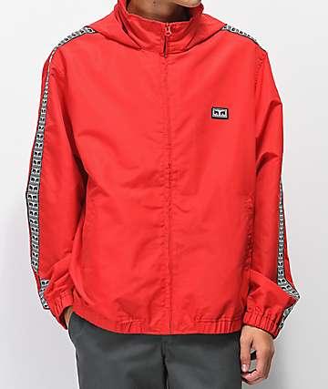 Obey Eyes chaqueta de chándal roja