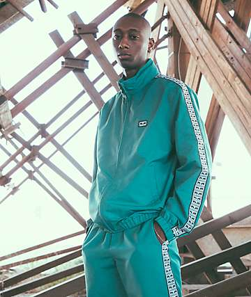 Obey Eyes chaqueta de chándal verde azulado