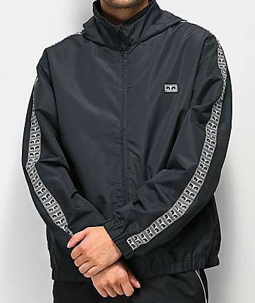 Obey Eyes chaqueta de chandál negra