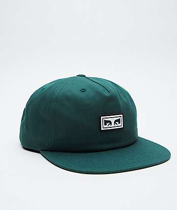 Obey Eyez Deep Green Snapback Hat