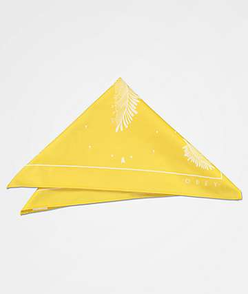 Obey Feather Bloom Yellow Bandana