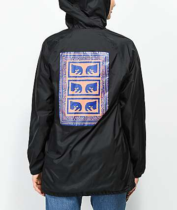Obey Flash Back chaqueta entrenador negra con capucha