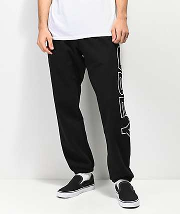 Obey Fleece Lined Black Sweatpants