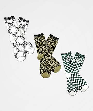 Obey Floyd 3 Pack Crew Socks