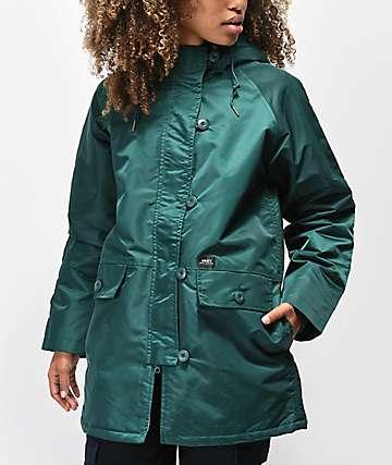 Obey Foxtrot chaqueta verde salvia