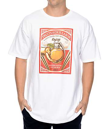 Obey Fruits Of Our Labor White T-Shirt
