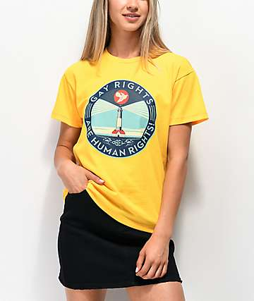 Obey Gay Rights Awareness Yellow T-Shirt