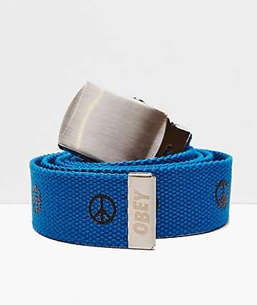 Obey Gentry Symbol Blue Web Belt
