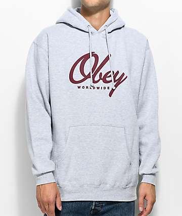 Obey Get Me Like Grey Hoodie