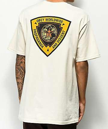 Obey Globe Worldwide Tan T-Shirt
