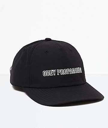 Obey Gossip Black Snapback Hat