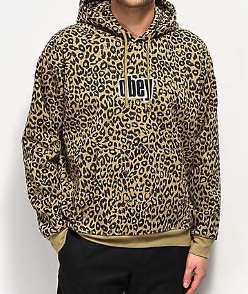Obey Gusto sudadera con capucha de leopardo