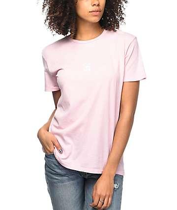 Obey Half Face Drifter Pink T-Shirt