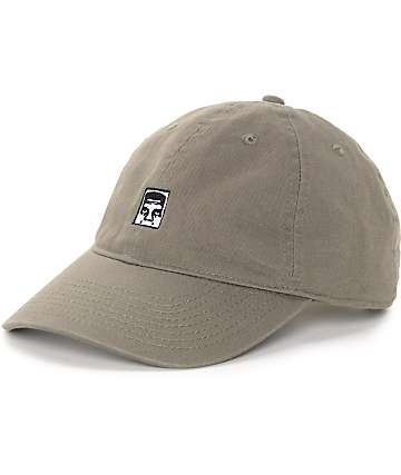 Obey Half Face Icon Olive Strapback Hat