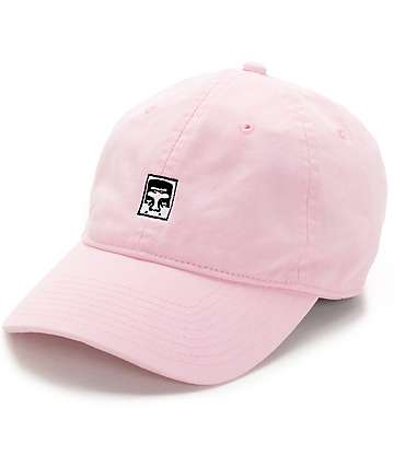 Obey Half Face Icon Pink Strapback Hat