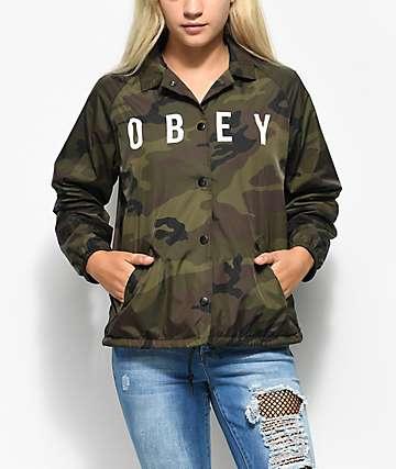 Obey Hard Core Camo Coaches Jacket