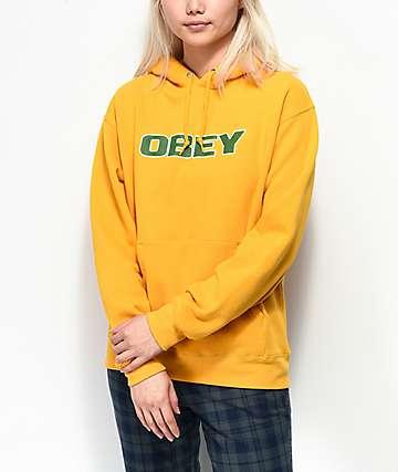 Obey Hedy sudadera con capucha dorada