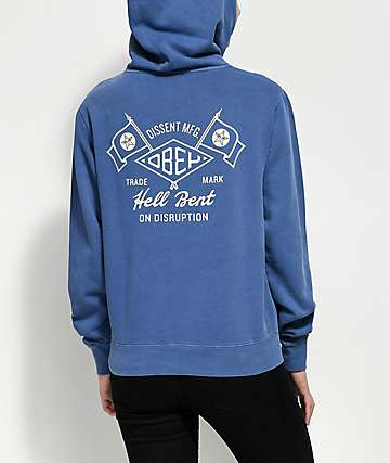 Obey Hell Bent Dusty Navy Hoodie