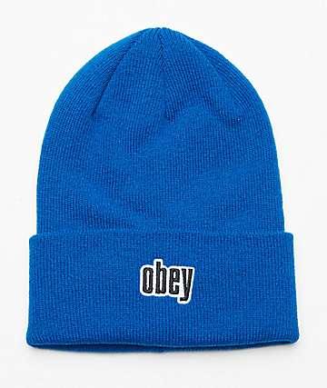 Obey Highland Blue Beanie